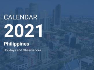 2021年全年菲律賓國定假日以及特殊非工作假日表