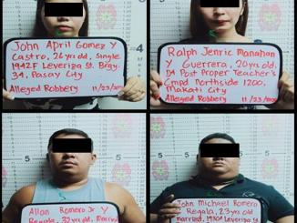帕賽Sogo Hotel 556號房內逮補4名包含變性人強劫一名中國人