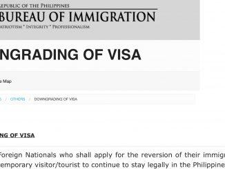 菲律賓9G工作簽證降簽Downgrade Visa教學