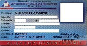 菲律賓9g工作簽證的主要申請材料和流程