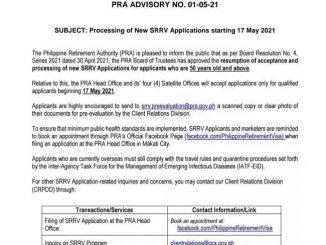 菲律賓SRRV開始重新接受退休移民申請