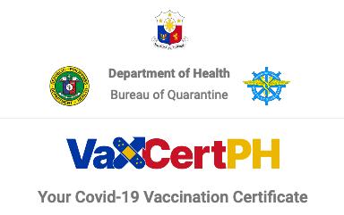 VaxCertPH新冠数位证明将在4个地区推出